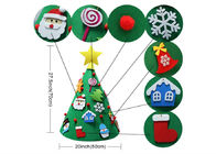 3D DIY Felt Christmas Tree With Ornaments Kids Toys Christmas Party Decoration